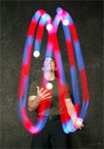 Dan Thurmon juggling glow balls