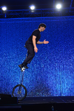 Dan Thurmon unicycling